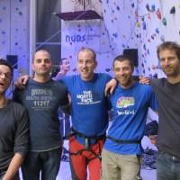 Ekipa v plezalnem centru